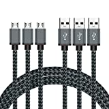 Snoogg BeneStellar Premium Nylon Braided USB 2.0 A Male to Micro B Charging Cables 3-Pack 3ft/0.9m Nexus, Nokia, Android Devices and etc.(Navy Blue)