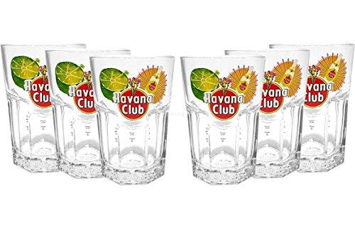 Havana Club Gläser Set - 6x Gläser 2/4cl geeicht