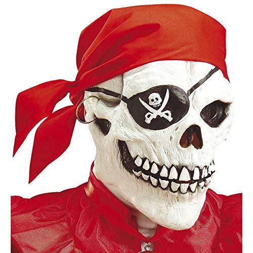 e Piraten - Totenkopf mit Augenklappe, Ohrring und Bandana ()