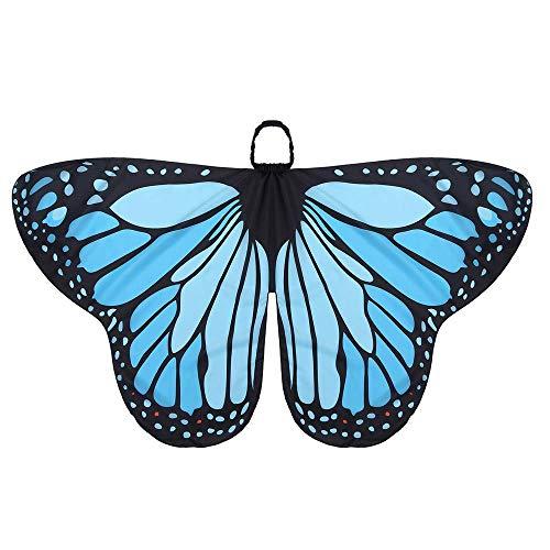 Kostüm für Schmetterlingsflügel, Kinderfeel Butterfly Shawl und Maske für Jungen Mädchen Dress Up Princess Preight Play Party (Butterfly Princess Mädchen Kostüm)