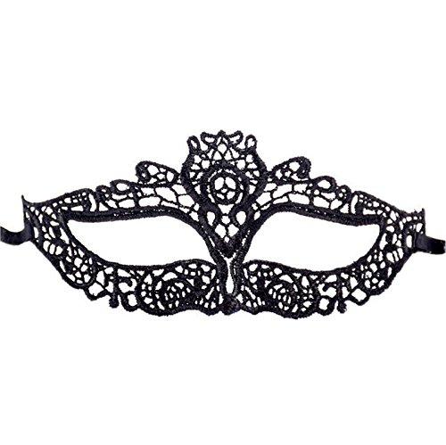 AMDXD Schmuck Damen Maske Spitze Halloween Kostüm Sex Augen Halloween Maske Schwarz Party Queen (Plus Size Maskenball Kostüme)