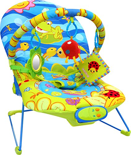 Bebe Style Ocean World Baby Recline Bouncer with Vibration and Music 51 2BUua8y0TL