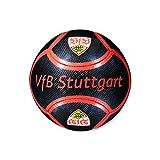 "VfB Stuttgart Fussball Carbon Optik ""schwarz-rot"" Größe 5 PVC Fanartikel / Freizeit Ball Winter! Geschenkidee!"