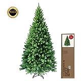 RS Trade® 180 cm ca. 824 Spitzen hochwertiger künstlicher Weihnachtsbaum mit Metallständer, Minutenschneller Aufbau mit Klappsystem, schwer entflammbar, HXT 1101