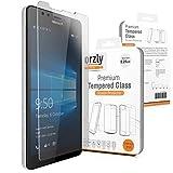 Orzly® - Premium Vetro Temperato 0,24mm per Microsoft LUMIA 950 SmartPhone (2015 Modello - VERSIONE ORIGINALE) - Pellicola Prottetiva Vetro Solido Protezione dello Schermo Ultra Resistente 8-9H - TRANSPARENTE