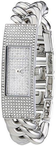 Michael Kors - Reloj de cuarzo para mujer, correa de acero inoxidable color plateado