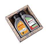 Lustapotheke® Geschenkset für KfZ Mechaniker oder Hobby Schrauber - 2x Duschgel für Männer im Motoröl-Design 1 - ohne Personalisierung
