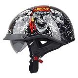 BBX Motocycle Helme Männer Und Frauen Helm Doppel Linse Full Mountainbike Helm Harley Helm Vier Jahreszeiten Road Race Helm,XXL