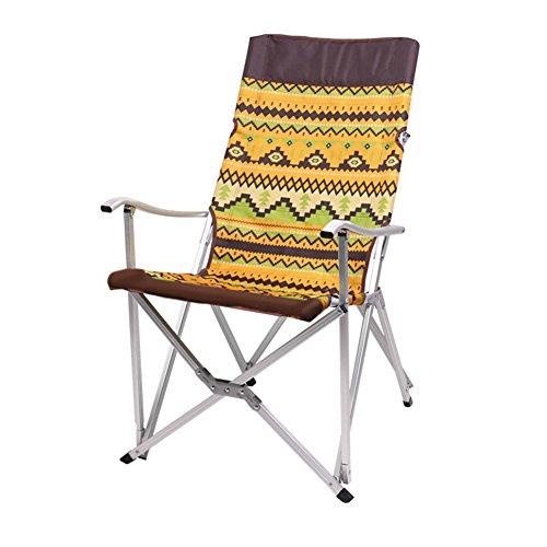 HM&DX Plein air Chaises de Camping Pliantes Portable Folding Chaise de Plage Pliante Stable Alliage d'Aluminium avec Sac de Transport pour Jardin Camping pêche randonnée Picnic-Orange M