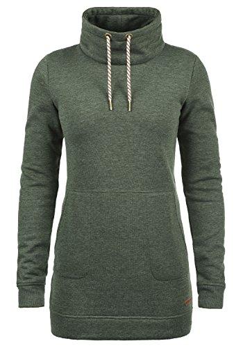DESIRES Vilma Damen Langes Sweatshirt Pullover Longpullover Mit Stehkragen, Größe:S, Farbe:Climb Ivy (8785)