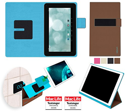 reboon Hülle für Blaupunkt Endeavour 700 BN Tasche Cover Case Bumper | in Braun | Testsieger