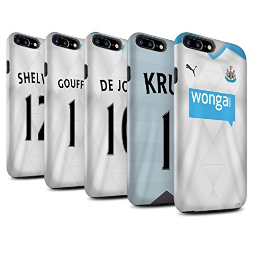 Offiziell Newcastle United FC Hülle / Matte Harten Stoßfest Case für Apple iPhone 7 Plus / Tioté Muster / NUFC Trikot Away 15/16 Kollektion Pack 29pcs