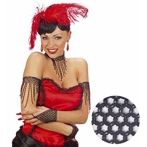 Cabaret Kostüm Burlesque - Widmann-WDM1721B Erwachsenenkostüm für Damen, Schwarz, WDM1721B