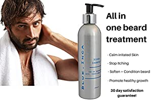 The only Intensive Conditioning Shampoo for your beard hair using the powerful properties of ARGAN OIL all in one beard maintenance solution backed by a 30 day guarantee! by Blue Inca