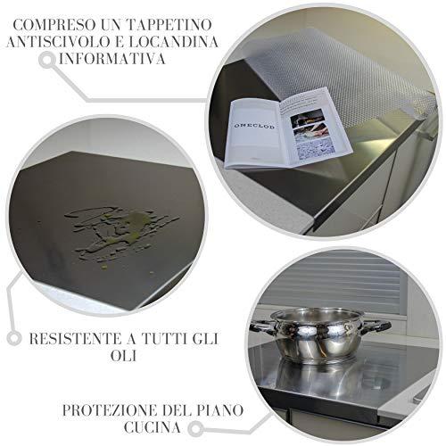 Oneclod Tagliere Cucina Spianatoia Acciaio Inox Satinato Piano