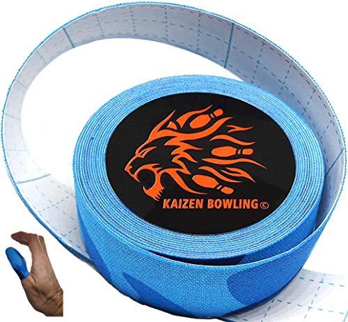 Bowling Tape - Fitting Tape für Daumen & Finger - Tenpin Bowling Zubehör für den Daumenschutz (Schwarz/Rot/Blau/Natur)