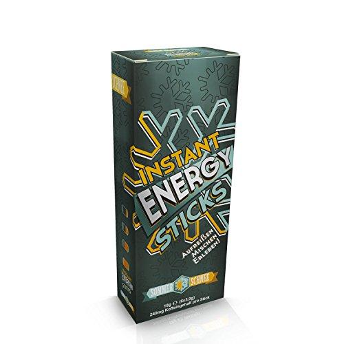 Sommer Schnee Instant Energy Stick, koffeinhaltiges Getränkepulver, 240mg Koffein pro Stick entsprechen ca. 4-5 Tassen Espresso! Zu 100% Vegan. Made in Germany. Aufreißen, Mischen, Erleben!