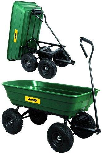 Blinky Argo Chariot de jardin à 4 roues renversable 80 l