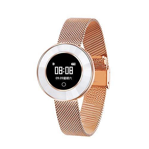 Preisvergleich Produktbild LayOPO Smart Armband Fitness Tracker mit Stahlband,  mit Herzfrequenz-Schrittzähler und Schlaf-Monitor,  Schrittzähler-Armband für IOS / Android.