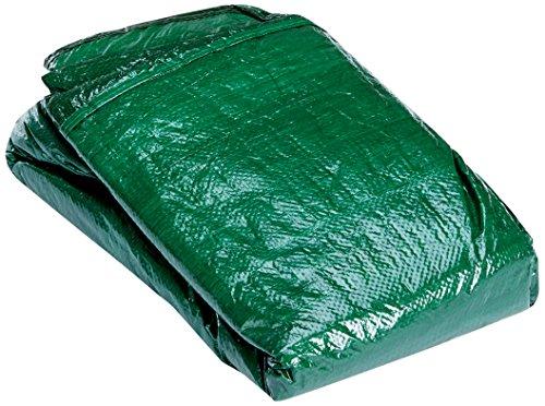 Relaxdays Schutzhülle Tischtennisplatte Outdoor, abwaschbare Abdeckplane, wetterfest, HxBxT: 55 x 160 x 182 cm, grün