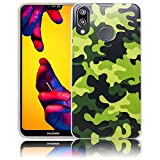 Huawei P20 Lite Camouflage Handy-Hülle Silikon - staubdicht, stoßfest & leicht - Smartphone-Case thematys® Huawei P20 Lite