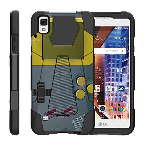 turtlearmor | Kompatibel für LG Tribute HD Fall | LG Volt 3| LG X Style [Dynamischer Shell] Duo Schutz Hybrid Impact Gummi Cover Hard Case Cover Ständer Cool Designs -, Gray Gameboy (Boost Mobile Phone Case Lg Volt)