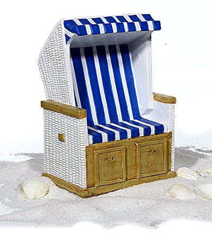 C+P Spardose Strandkorb in blau weiß