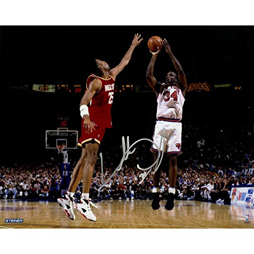 Steiner Sports NBA New York Knicks Charles Oakley Foto mit Autogramm, Querformat, 20 x 25 cm