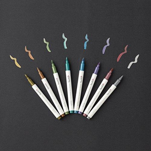 Docrafts Brush Marker Fluid Metallic, verschiedene Farben (8Stück) - 3