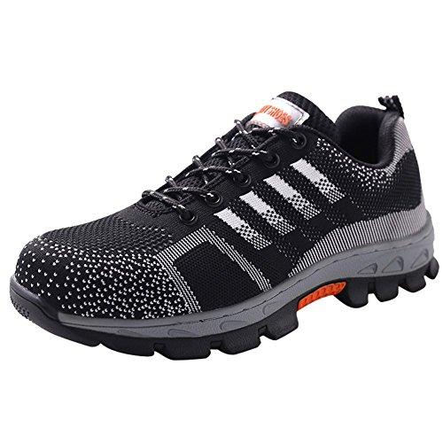 Scarpe da Lavoro Uomo Antinfortunistiche Acciaio Sportive Scarpa Sneaker Ginnastica Trekking Estive Grifio02 44 EU