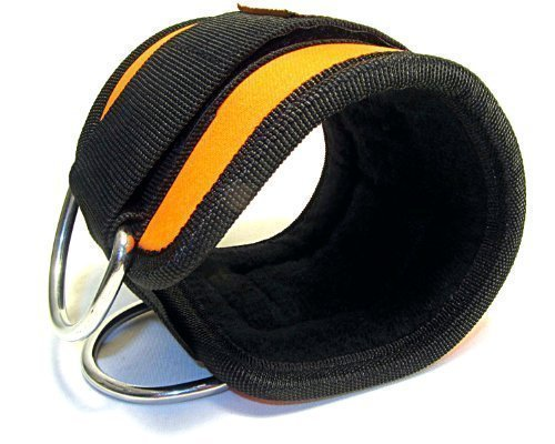 Top Sport cheville sangle en néoprène Noir/orange simple 'pour machine à câble Fixation, Multi Gym Fixation Physio, yoga, rééducation, cheville