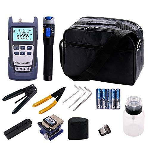 Peanutaoc Abisoliermesser Werkzeugbox Glasfaser Kühlset Set Lederband Optische Leistungsmesser Rotlichtstift