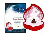 Echte Sternschnuppe in roter Herzbox - inkl. Sternschnuppenzertifikat mit Platz für Deine Signatur | als Weihnachtsgeschenk, als Geschenk zum Geburtstag, zum Jahrestag oder zum Valentinstag
