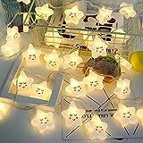 Y-XM Catena Luminosa Con 10 LED 1,5 m Espressione Stella Luci a corda Per Interno All'aperto Natale Nozze arredamento