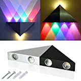 XCSOURCE® 5W LED lámpara de pared RGB corredor de lámpara multicolor triangular Para Bar Club LD525