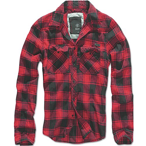 Brandit Checkshirt Camicia rosso/nero 4XL