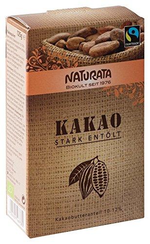 Naturata Bio Kakao, stark entölt 10-12 % (10 x 125 gr)