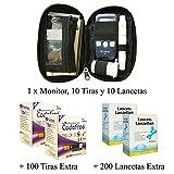 SD Codefree - Estuche que contiene Monitor de Glucosa, 10 Tiras y 10 Lancetas - Más 100 Tiras y 200...