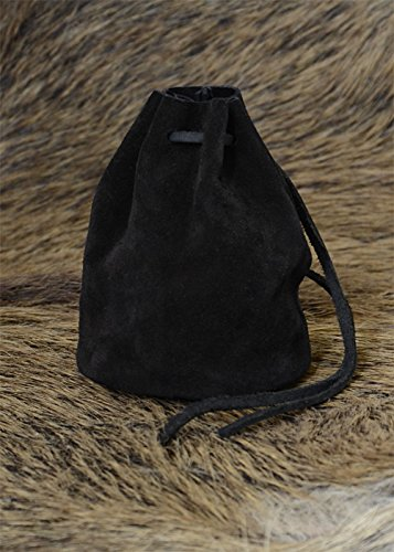 leather-bag-black-large-coin-purse-viking-medieval-painted
