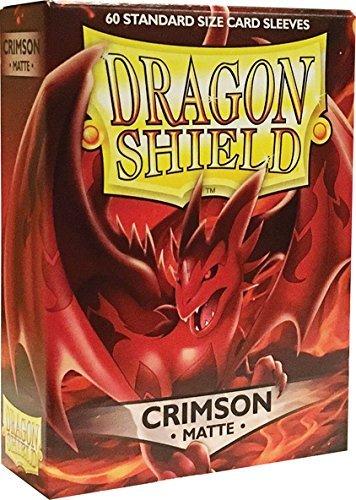 Arcane Tinmen ApS ART11221 Sleeves (Red) Nein Dragon Shield Matte: Crimson (60 Stück), Einheitsgröße (Dragon Shield Sleeves Green)