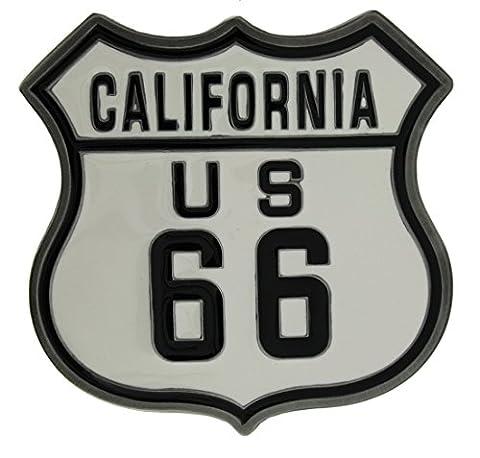 Boucle de ceinture, US 66 Shield en un de mes présentation en coffrets.