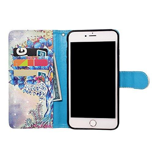 iPhone 6s Custodia,iPhone 6 4.7 Custodia in Pelle,Slynmax 3D Modello Copertura Folio Flip Cover PU Wallet Case Per iPhone 6/6s Protezione Caso Ultra Sottile Colorato Protettivi Covers Chiusura Magneti Modello #7