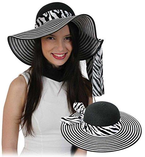 Preisvergleich Produktbild Hut Lady, Sommerhut, Sonnenhut, Urlaub, Freizeit, Strand, Garten, Karneval