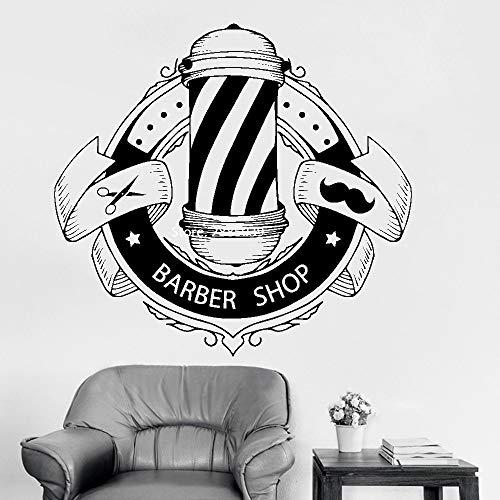 S 60 cm x 56 cm Friseur Zeichen Wandtattoos Barbershop Fenster Wanddekor Poster Friseur Aufkleber Wandaufkleber Abnehmbare Wasserdichte LC1085 -