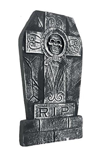Boland 72018 - Grabstein Totenkopf RIP, ca. 50 x 27 (Halloween Grabsteine)