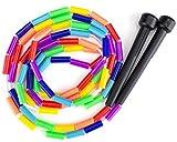 K-Roo Sports Rainbow 213cm JUMP Seil mit Kunststoff Perlen Segmentierung