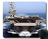 Mauspad mit genähtem Rand, Flugzeugträger USS Dwight D. Eisenhower Kriegsschiff rutschfestes Gummi-Mousepad