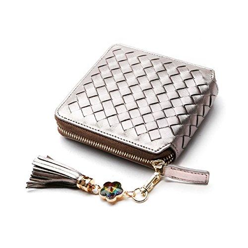 hand-woven portafoglio/Breve borsa con frange-B C