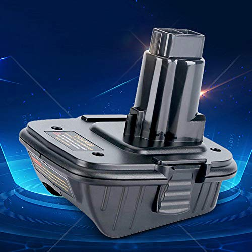 Danigrefinb Li-Ionen-Akku-Adapter für Dewalt DCA1820, 10,8 V, 12 V, 18 V, 20 V auf 18 Volt Elektronik-Zubehör One Size DCA1820 (Dewalt 12 Volt Ionen-batterie)