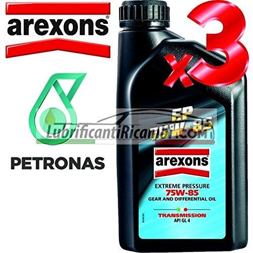 AREXONS PETRONAS EP API GL4 75w85 Olio Lubrificante Cambi, Differenziali e Trasmissioni Meccaniche 100% Sintetico 3 LT